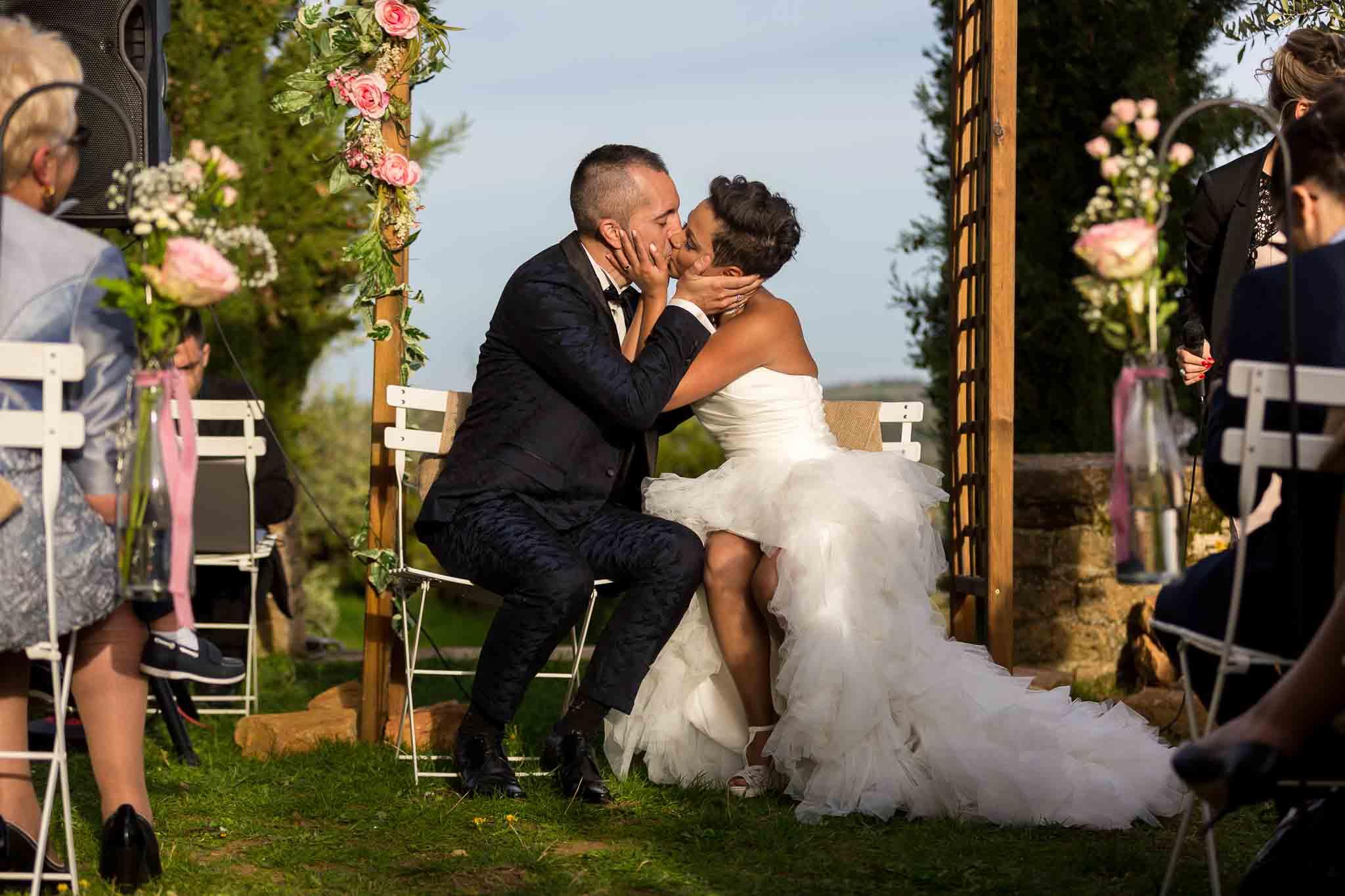 Ceremonie laique de couple durant mariage a lyon